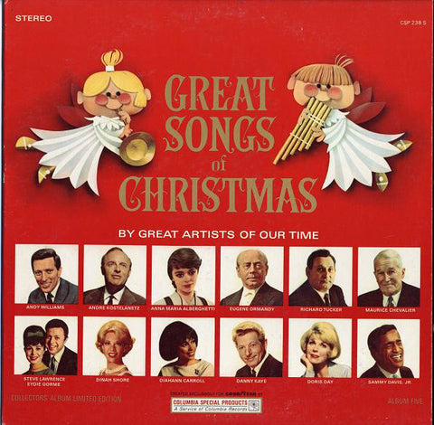 Various ‎– The Great Songs Of Christmas, Album Five (1965) STEREO Vinyl Record