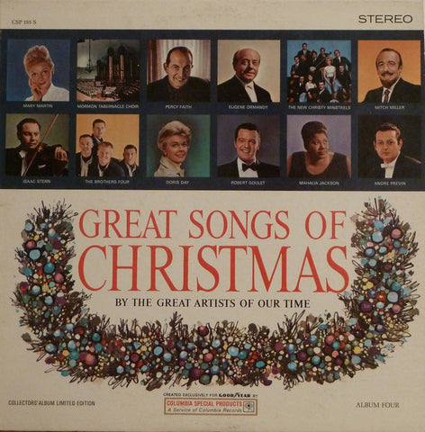 Various ‎– Great Songs Of Christmas, Album Four (1964) STEREO Vinyl Record