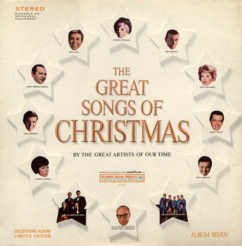 Various ‎– The Great Songs Of Christmas, Album Seven (1967) STEREO Vinyl Record