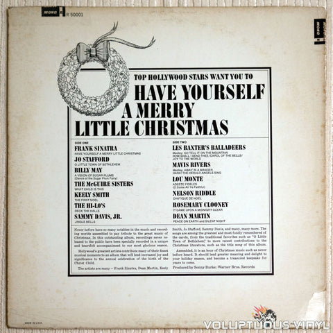 Various ‎– Have Yourself A Merry Little Christmas - Vinyl Record - Back Cover