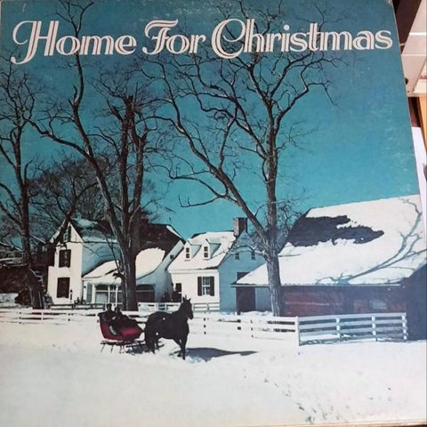 Various ‎– Home For Christmas vinyl record front cover