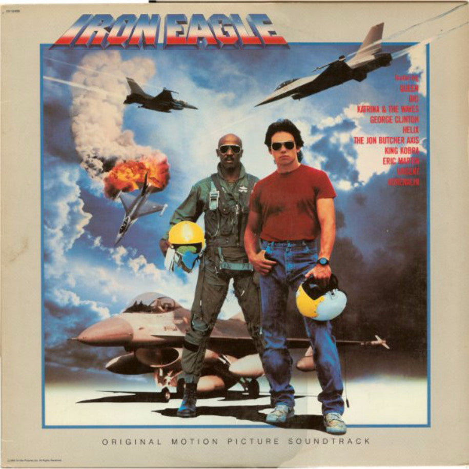 Various ‎– Iron Eagle: Original Motion Picture Soundtrack - Vinyl Record - Front Cover