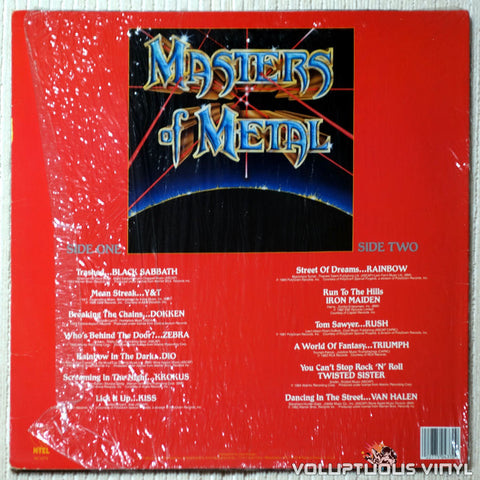 Various ‎– Masters Of Metal - Vinyl Record - Back Cover