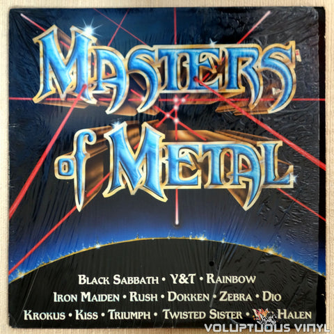 Various ‎– Masters Of Metal - Vinyl Record - Front Cover
