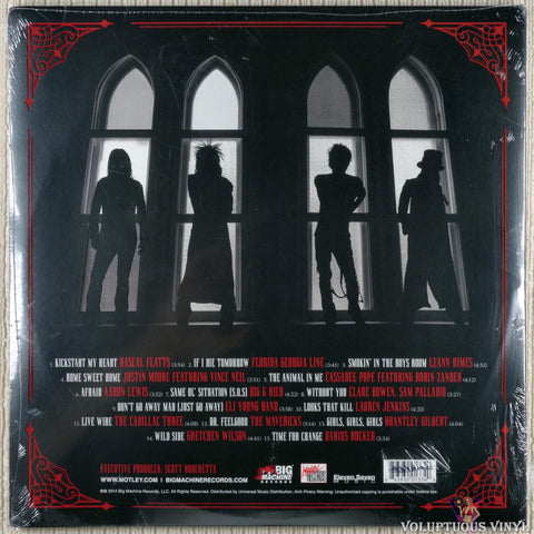 Various ‎– Nashville Outlaws (A Tribute To Mötley Crüe) vinyl record back cover
