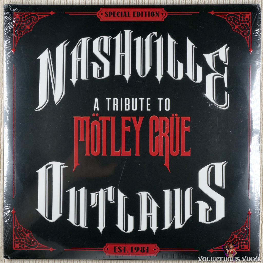 Various ‎– Nashville Outlaws (A Tribute To Mötley Crüe) vinyl record front cover