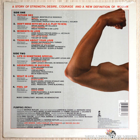 Various ‎– Pumping Iron II: The Women - Vinyl Record - Back Cover