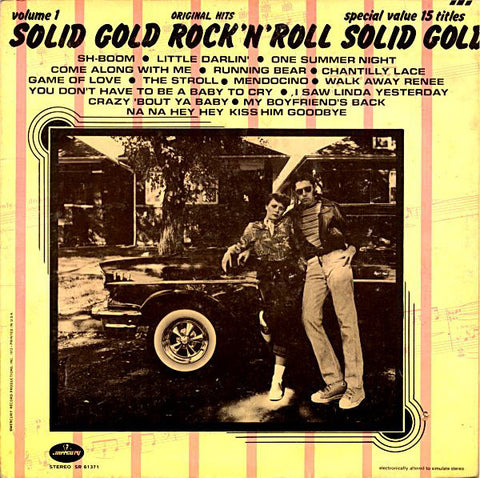 Various ‎– Solid Gold Rock 'N' Roll Volume 1 (1972) Cheap Vinyl Record