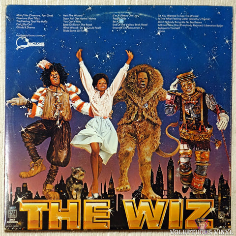 Various ‎– The Wiz (Original Motion Picture Soundtrack) vinyl record back cover