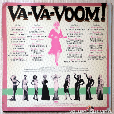 Various ‎– Va-Va-Voom! Screen Sirens Sing! - Vinyl Record - Back Cover