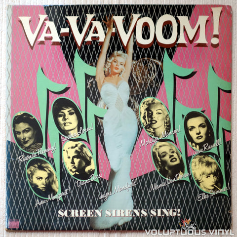 Various ‎– Va-Va-Voom! Screen Sirens Sing! - Vinyl Record - Front Cover