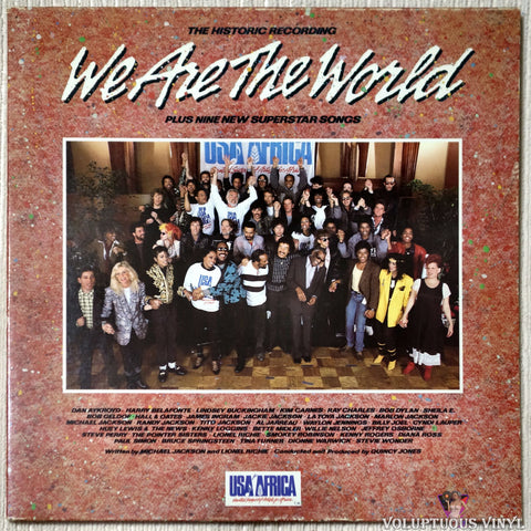 Various ‎– We Are The World vinyl record front cover