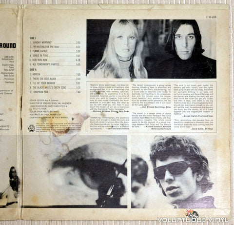 The Velvet Underground & Nico ‎– The Velvet Underground & Nico - Vinyl Record - Right Inner Panel Gatefold