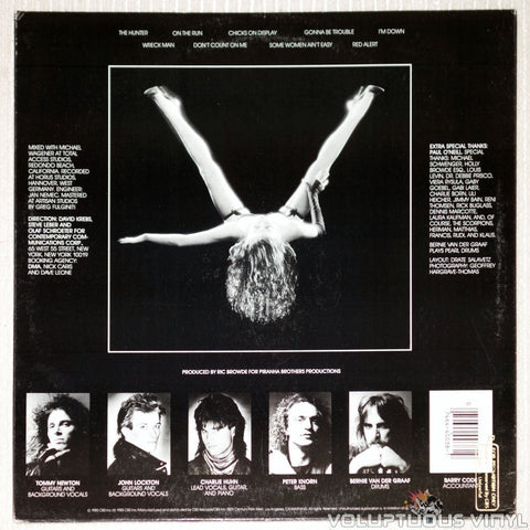 Victory – Victory - Vinyl Record - Back Cover Woman With Legs Spread Open