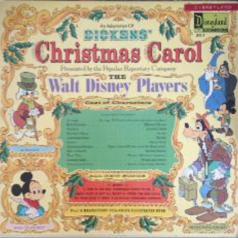 The Walt Disney Players, Charles Dickens ‎– An Adaptation Of Dickens' Christmas Carol vinyl record front cover