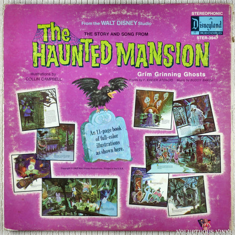 Walt Disney Studio ‎– The Story And Song From The Haunted Mansion vinyl record back cover
