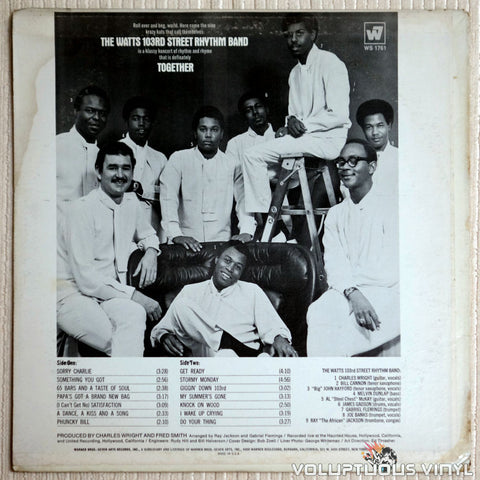 The Watts 103rd Street Rhythm Band ‎– Together - Vinyl Record - Back Cover