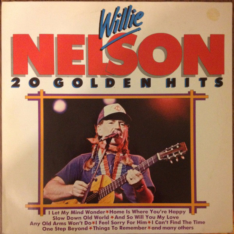 Willie Nelson ‎– 20 Golden Hits - Vinyl Record - Front Cover