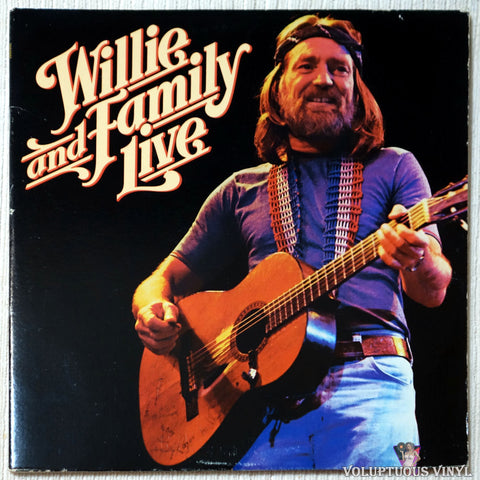Willie Nelson ‎– Willie And Family Live vinyl record front cover