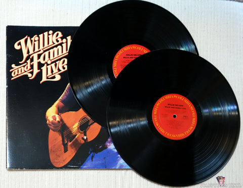 Willie Nelson ‎– Willie And Family Live vinyl record
