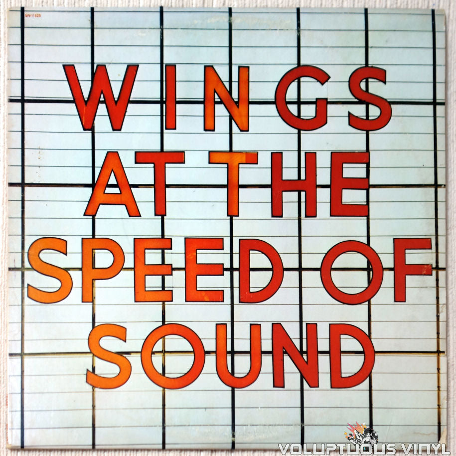 Wings ‎– At The Speed Of Sound vinyl record front cover