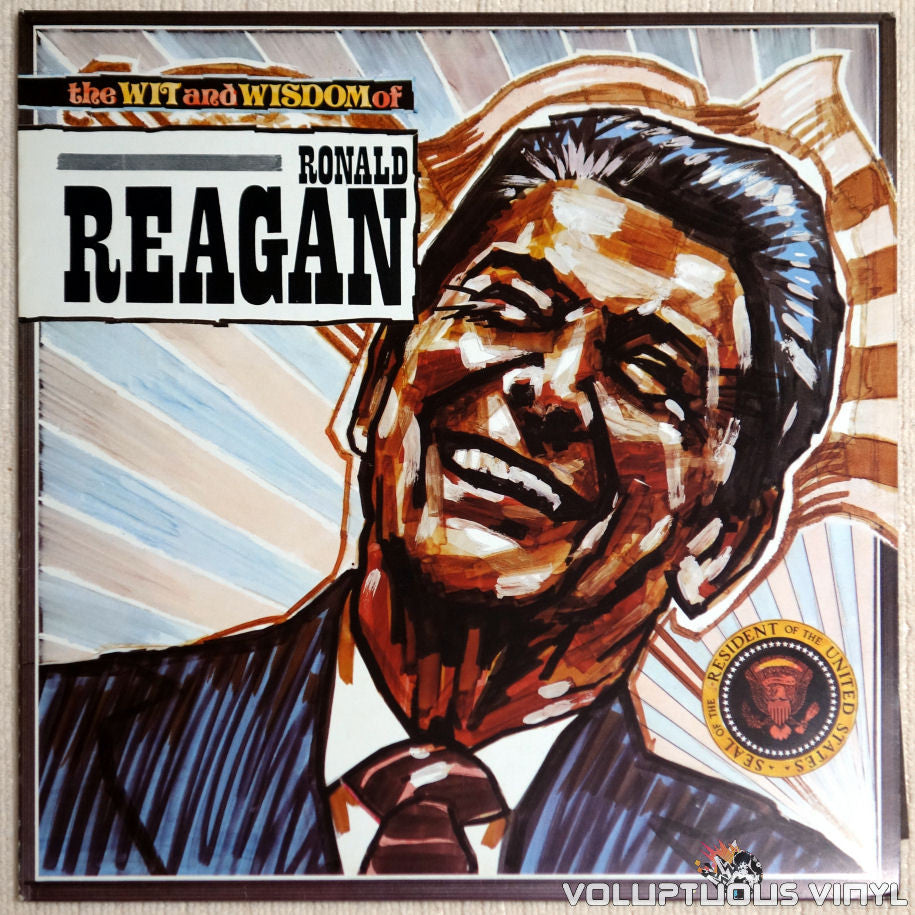 No Artist ‎– The Wit And Wisdom Of Ronald Reagan - Vinyl Record - Front Cover
