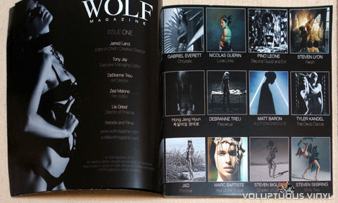 Wolf Magazine Issue One Table of Contents Fashion Nude Photography