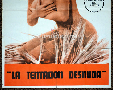 Woman and Temptation 1966 Argentina Poster - Nude Isabel Sarli - Bottom Half