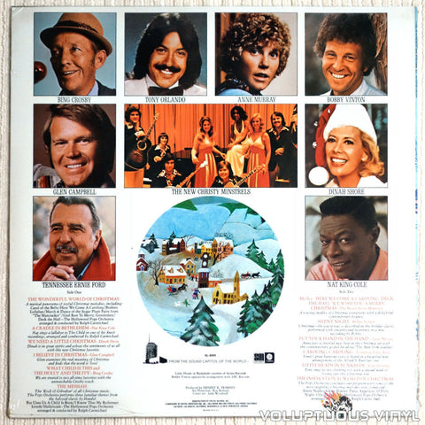 Various ‎– The Wonderful World Of Christmas - Vinyl Record - Back Cover