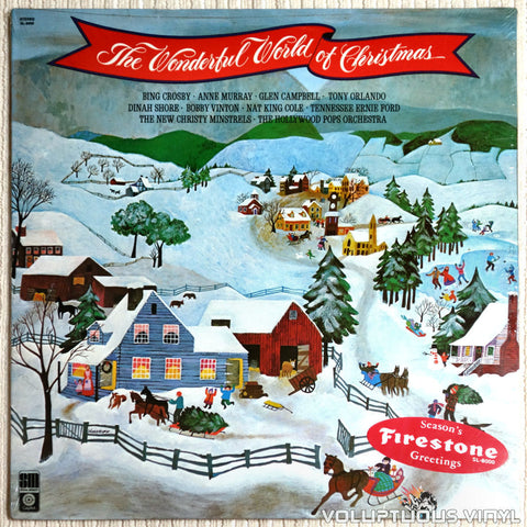 Various ‎– The Wonderful World Of Christmas - Vinyl Record - Front Cover