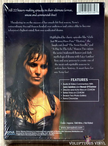 Xena Warrior Princess - Season Two DVD back cover
