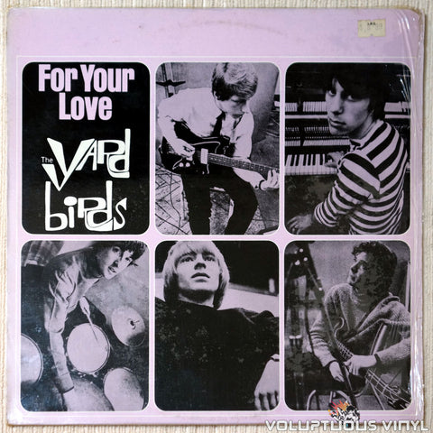 The Yardbirds ‎– For Your Love vinyl record front cover