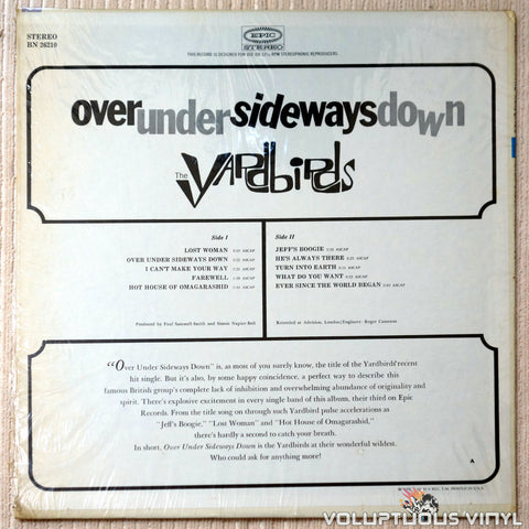 The Yardbirds ‎– Over Under Sideways Down - Vinyl Record - Back Cover