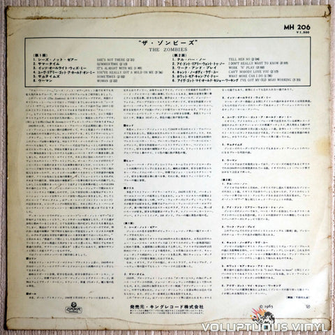 The Zombies ‎– The Zombies - Vinyl Record - Back Cover