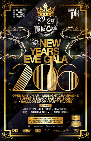 13th Floor NEW YEARS EVE GALA