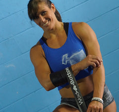 CrossFit Floss Band being used by Kristin Graham