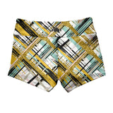 Gold Fever Shorties-Booty Shorts-WodBottom-Womens CrossFit Shorts-WodBottom