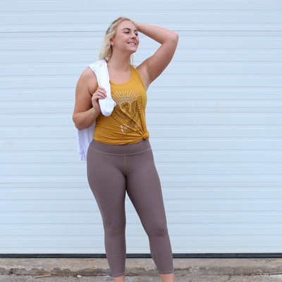 "Luxe Deja-Brew Mocha 25"" Leggings - WodBottom"