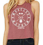 Muscles and Mayhem Racerback Crop Tank