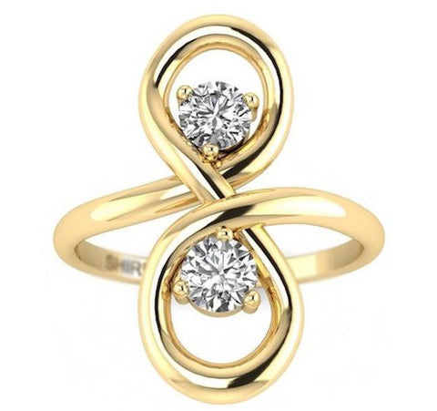 Small Diamond Engagement Ring Infinity