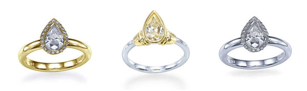 pear shaped diamonds engagement rings