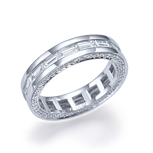 channel style settings diamond ring