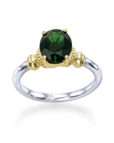 green gemstone engagement ring under 2000