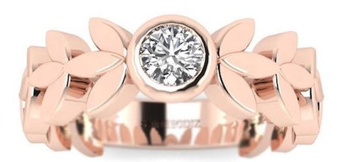 Small Diamond Promise Ring Rose Gold