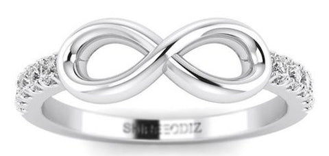 Diamond Promise Ring Infinity White gold