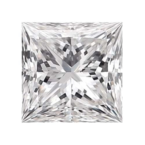 0.25 carat Princess Diamond - D/I1 CE Very Good Cut - TIG Certified - Custom Made