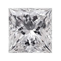 Loose Diamond 0.25 carat Princess Diamond - E/SI1 Natural Excellent Cut - AIG Certified