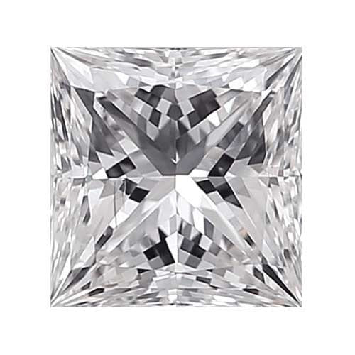 0.25 carat Princess Diamond - E/SI1 Natural Very Good Cut - TIG Certified - Custom Made