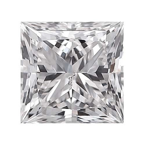 0.25 carat Princess Diamond - E/SI3 Natural Very Good Cut - TIG Certified - Custom Made