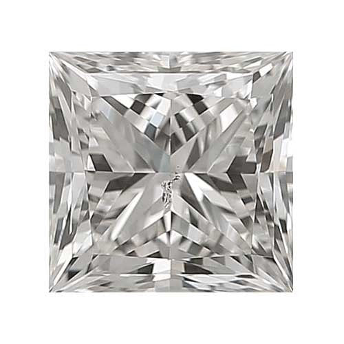 0.25 carat Princess Diamond - H/SI3 CE Very Good Cut - TIG Certified - Custom Made
